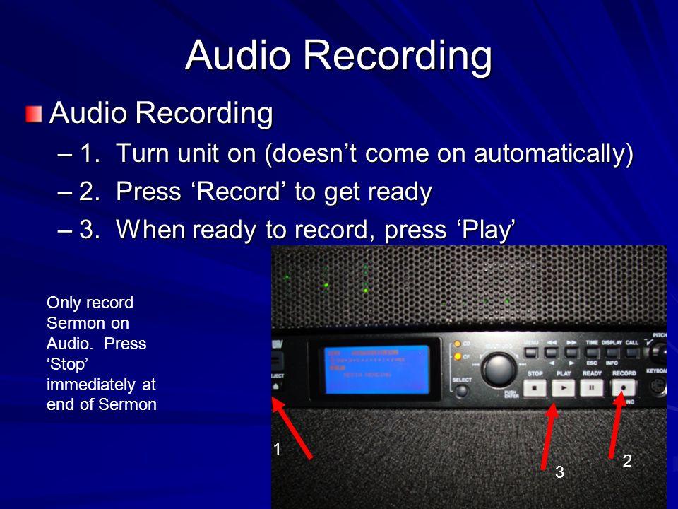 Audio Recording Audio Recording