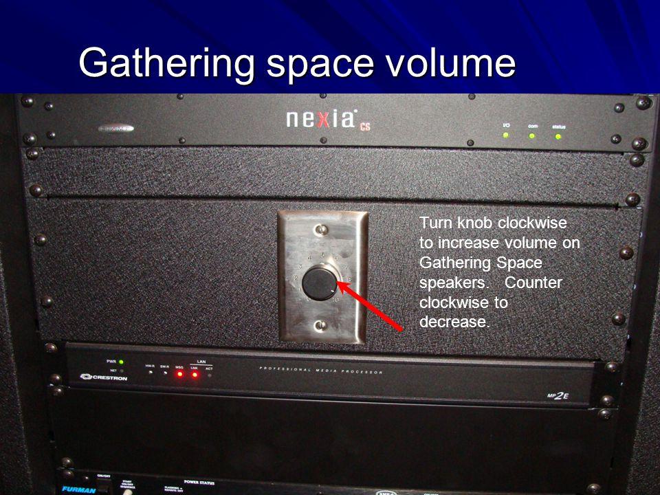 Gathering space volume