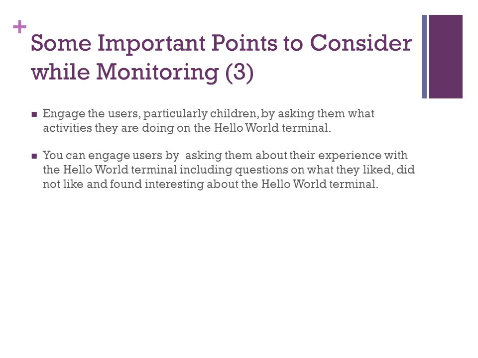 Some Important Points to Consider while Monitoring (3)