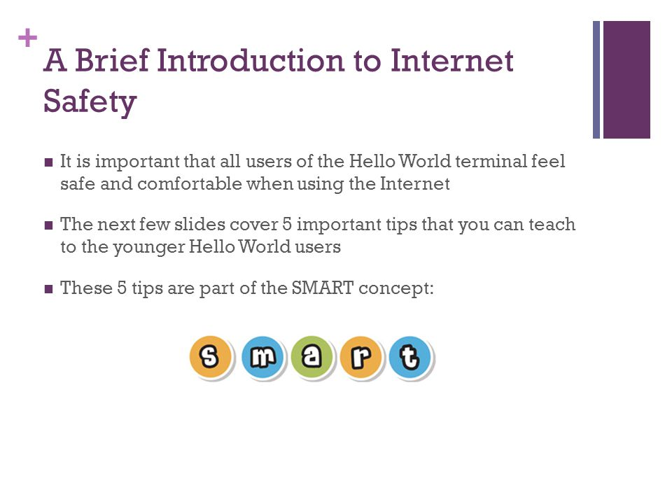 A Brief Introduction to Internet Safety