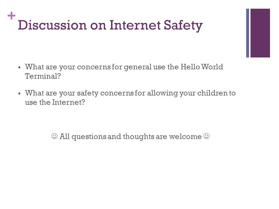 Discussion on Internet Safety
