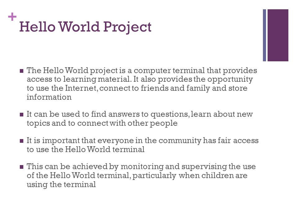 Hello World Project