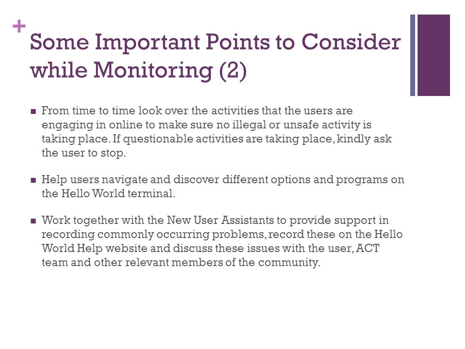 Some Important Points to Consider while Monitoring (2)