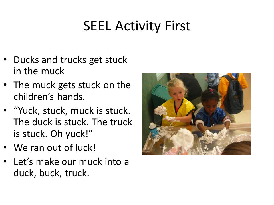 SEEL Activity First Ducks and trucks get stuck in the muck