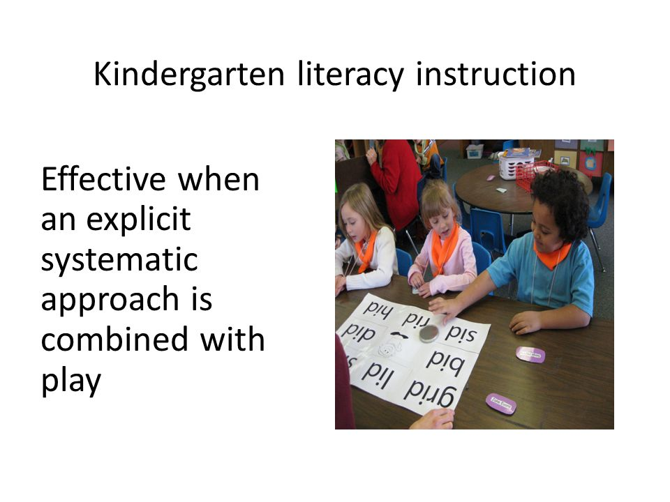 Kindergarten literacy instruction