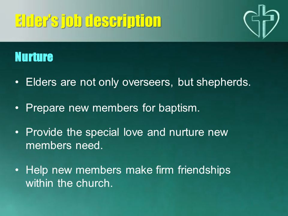 Elder's job description