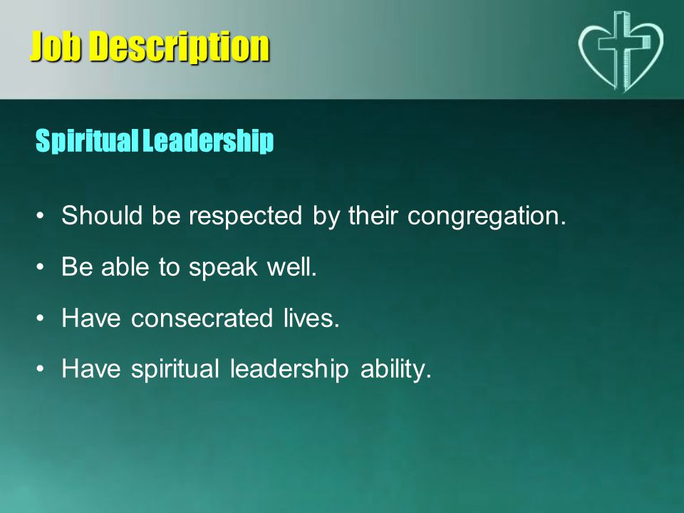 Job Description Spiritual Leadership