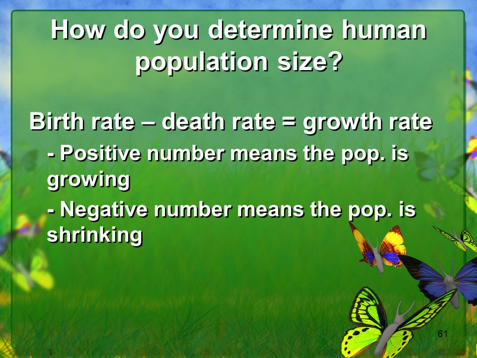 How do you determine human population size