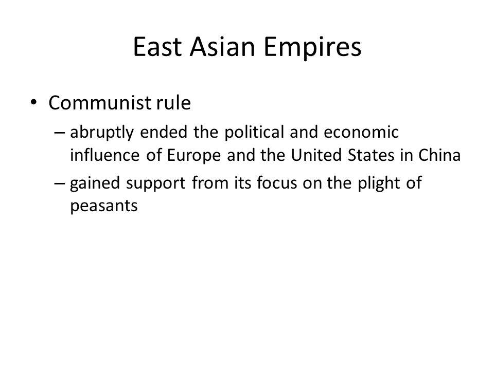 East Asian Empires Communist rule