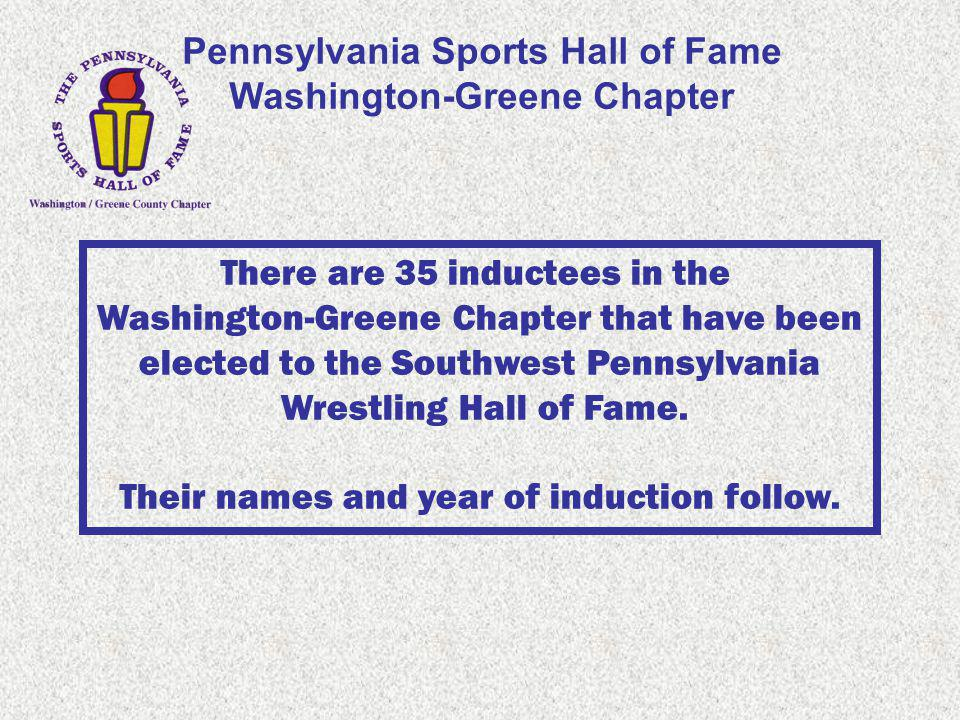 Pennsylvania Sports Hall of Fame Washington-Greene Chapter