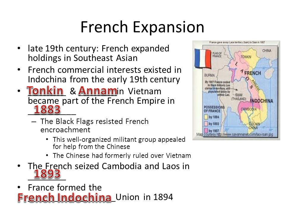 French Expansion Tonkin Annam 1883 1893 French Indochina