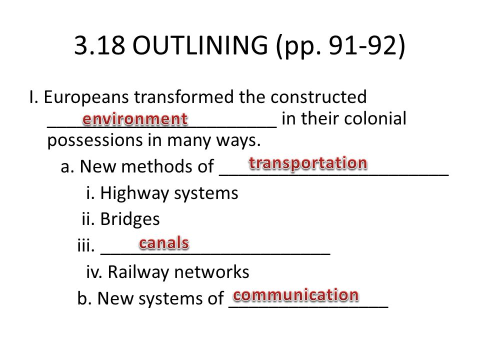3.18 OUTLINING (pp. 91-92)