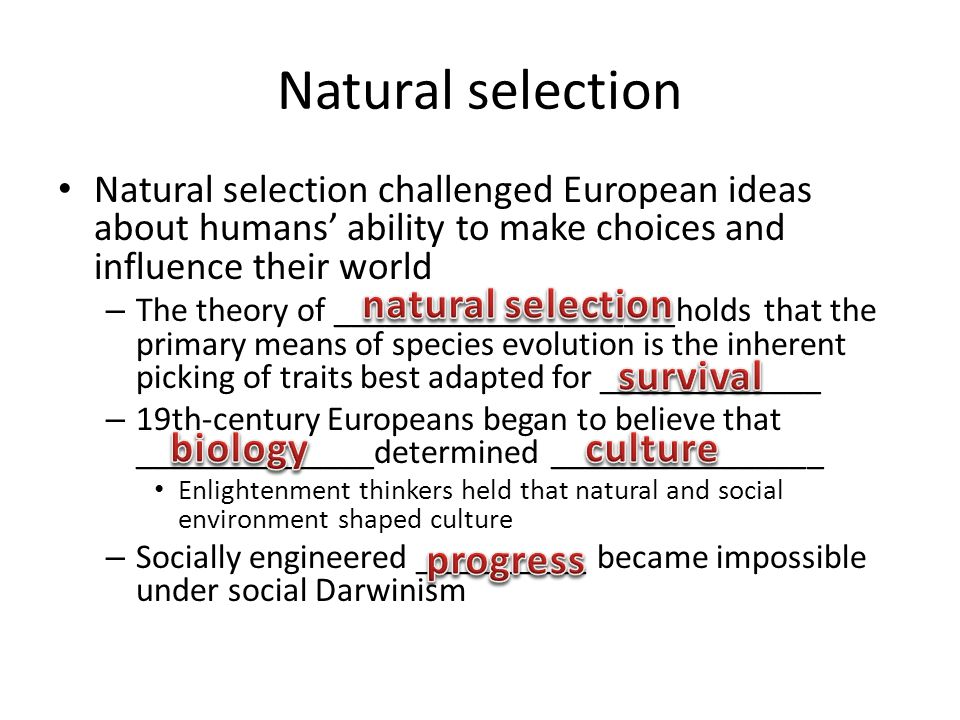 Natural selection natural selection survival biology culture progress