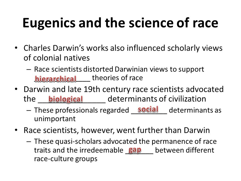 Eugenics and the science of race