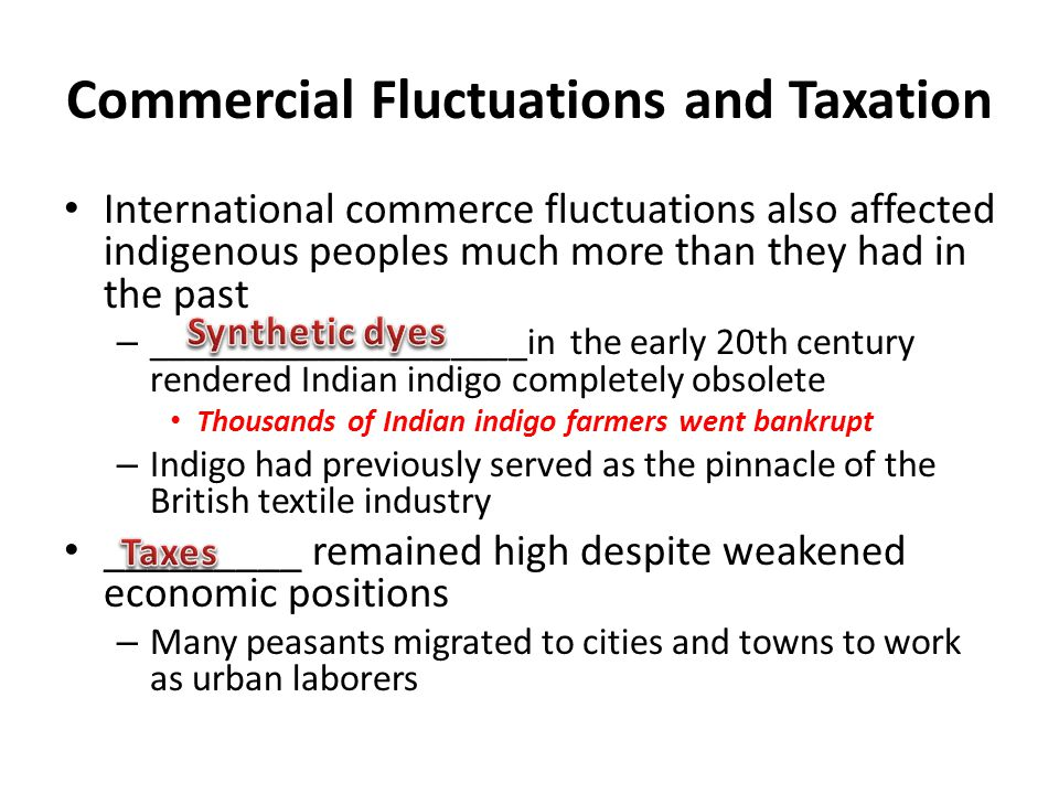 Commercial Fluctuations and Taxation