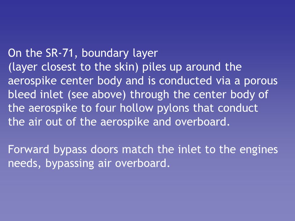 On the SR-71, boundary layer