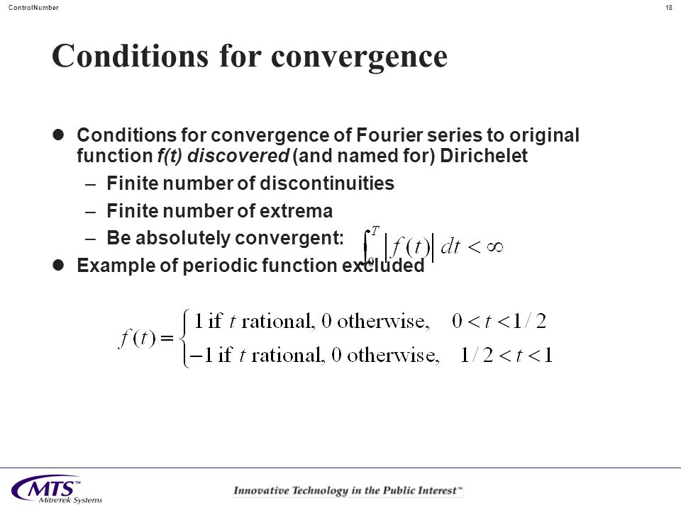 Conditions for convergence