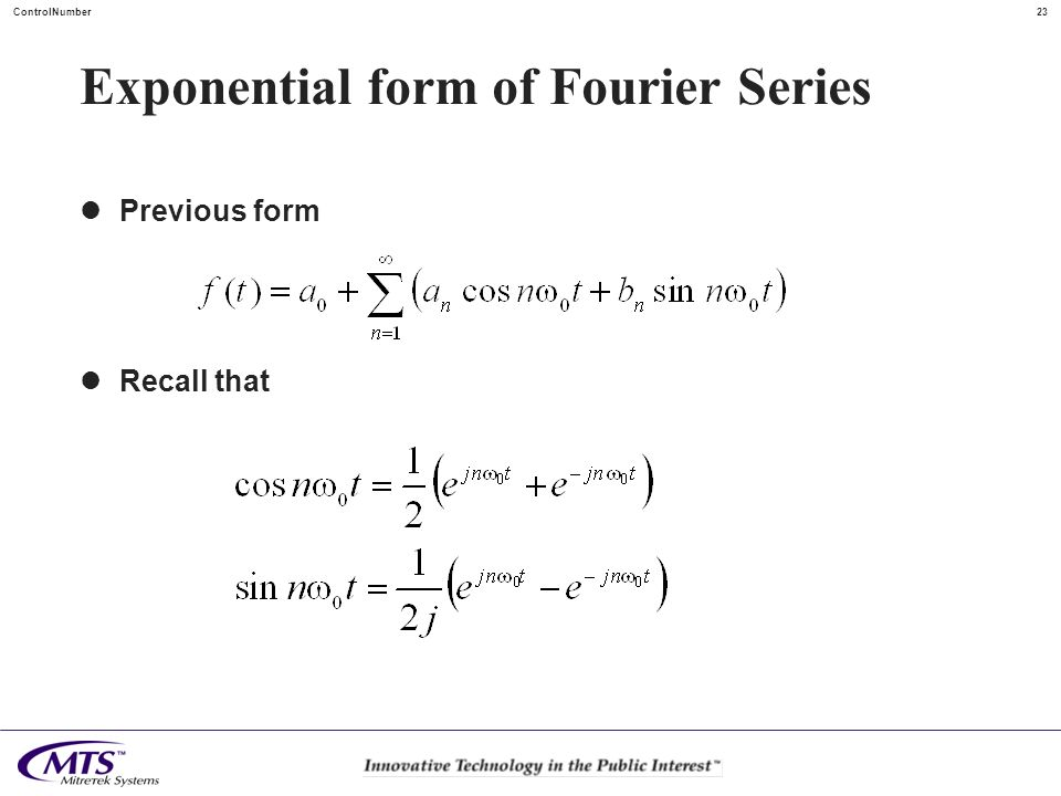 Exponential form of Fourier Series