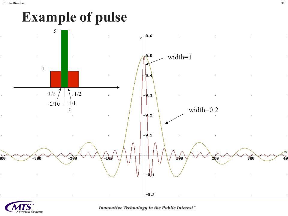 Example of pulse 5 width=1 1 -1/2 1/2 -1/10 1/10 width=0.2
