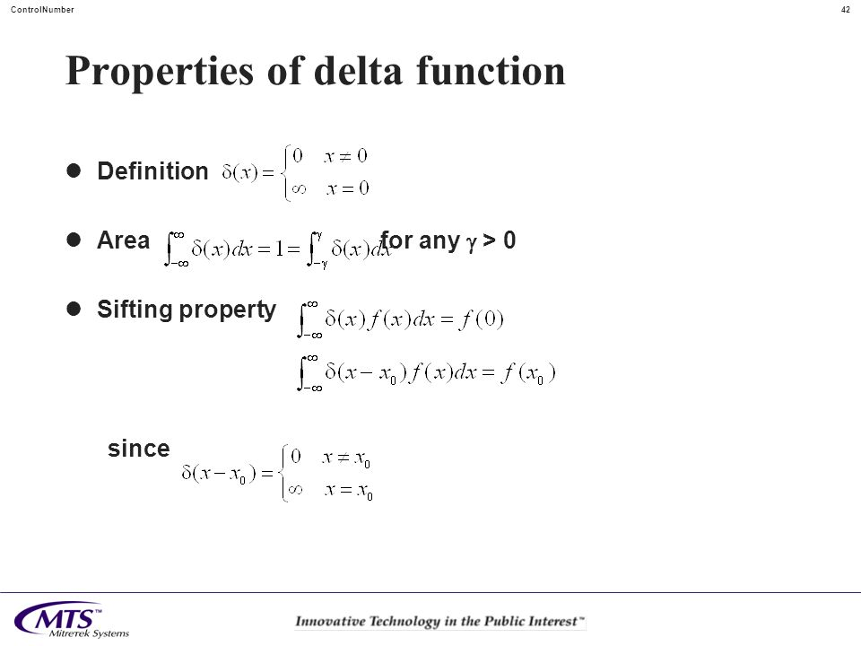 Properties of delta function