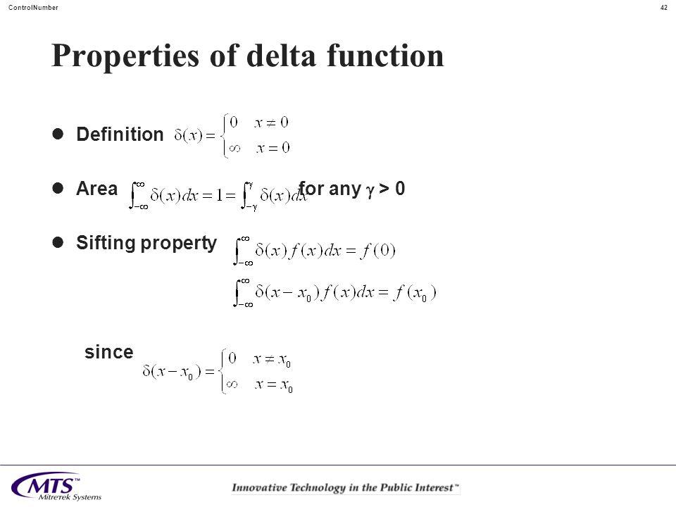 Properties of delta function