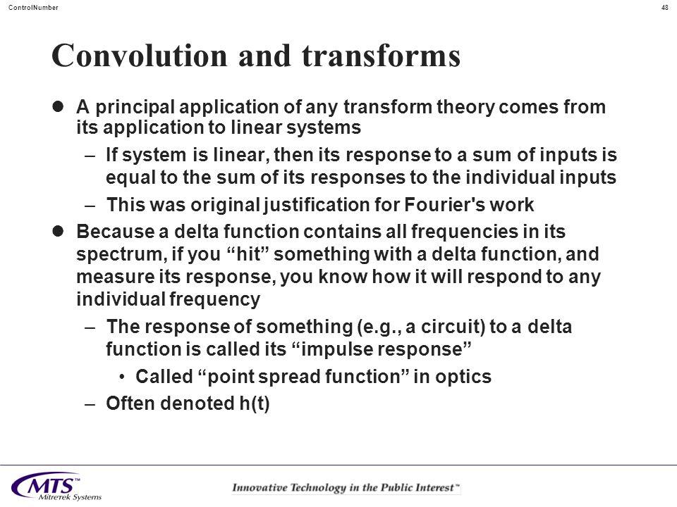 Convolution and transforms