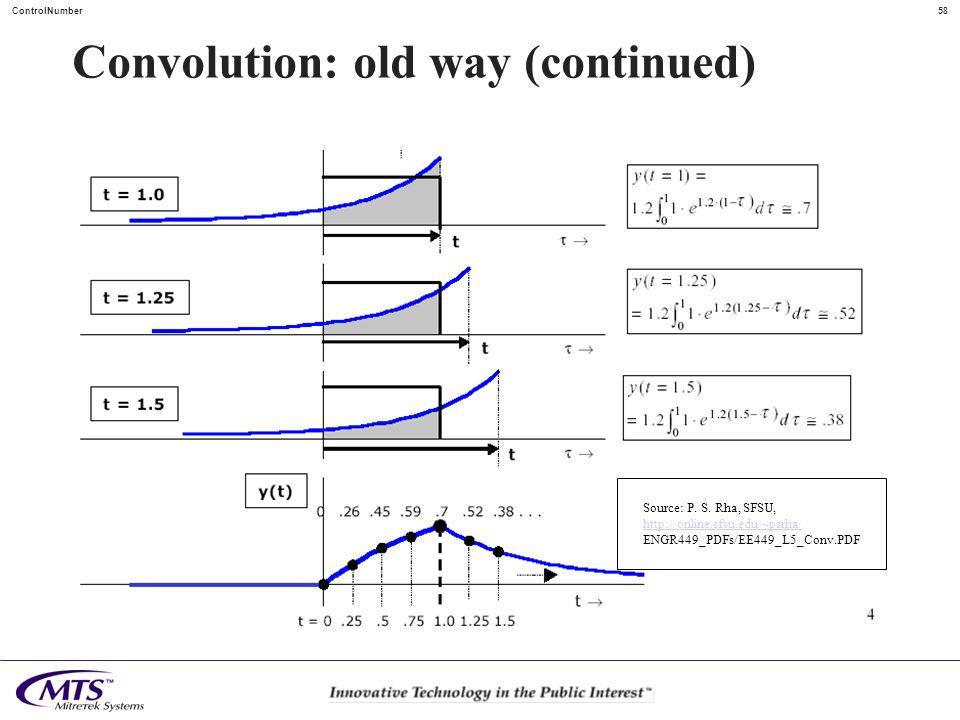 Convolution: old way (continued)