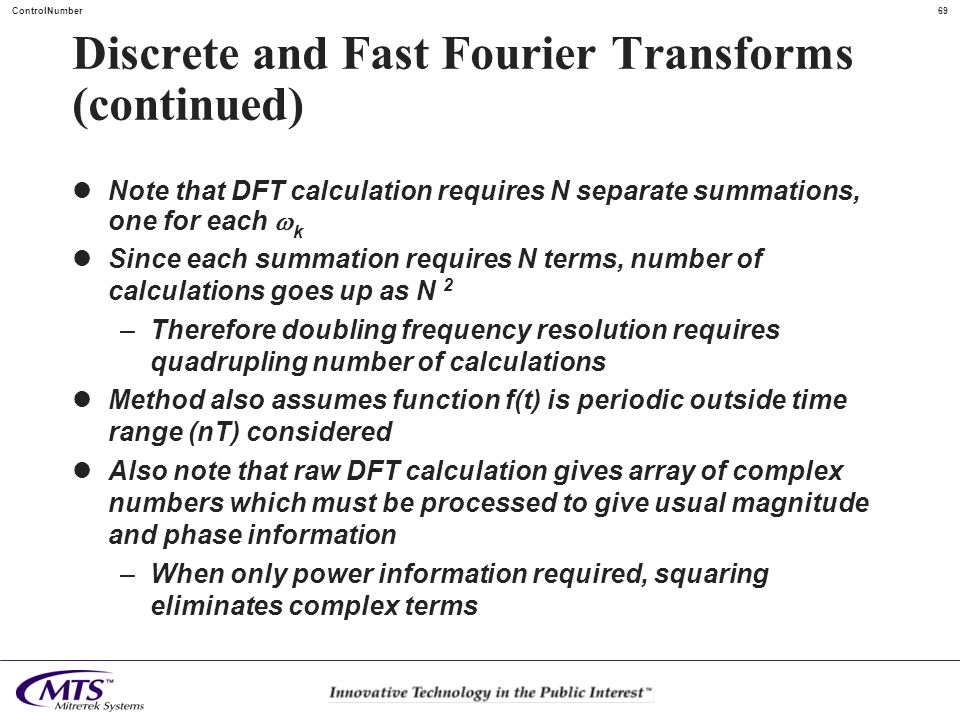 Discrete and Fast Fourier Transforms (continued)