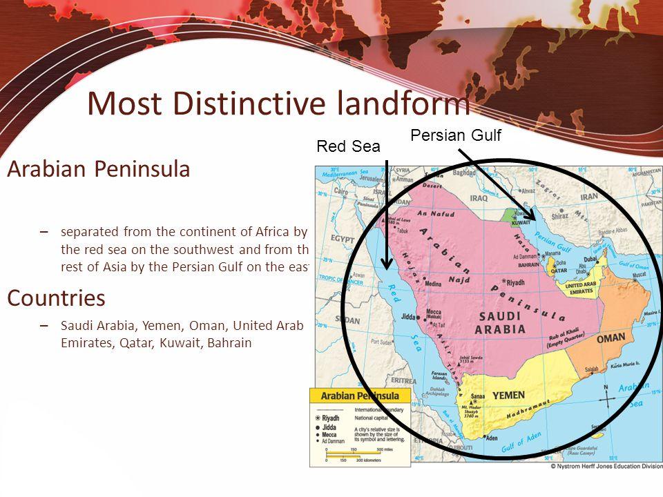 Most Distinctive landform