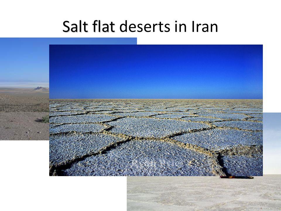 Salt flat deserts in Iran