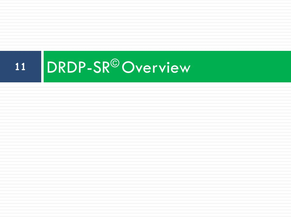 DRDP-SR© Overview