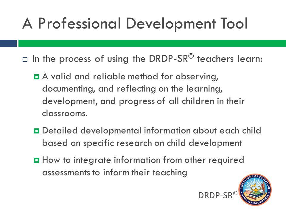 A Professional Development Tool