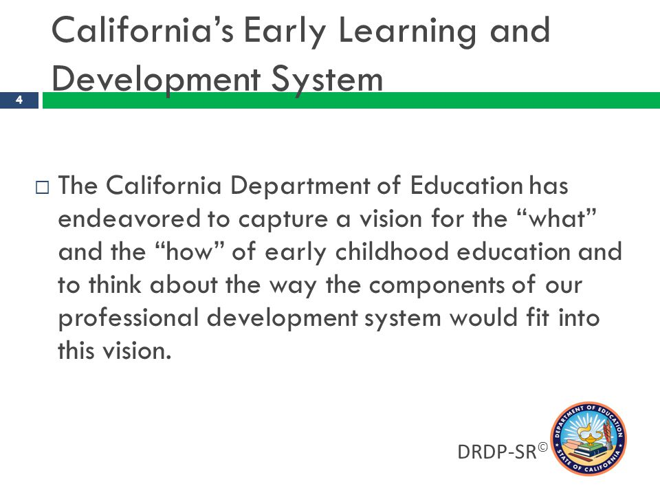 California's Early Learning and Development System
