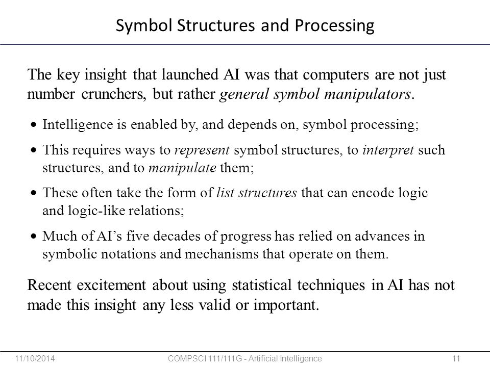 Symbol Structures and Processing