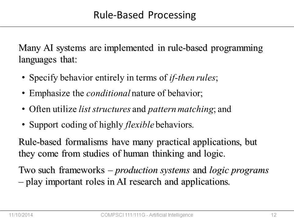 Rule-Based Processing