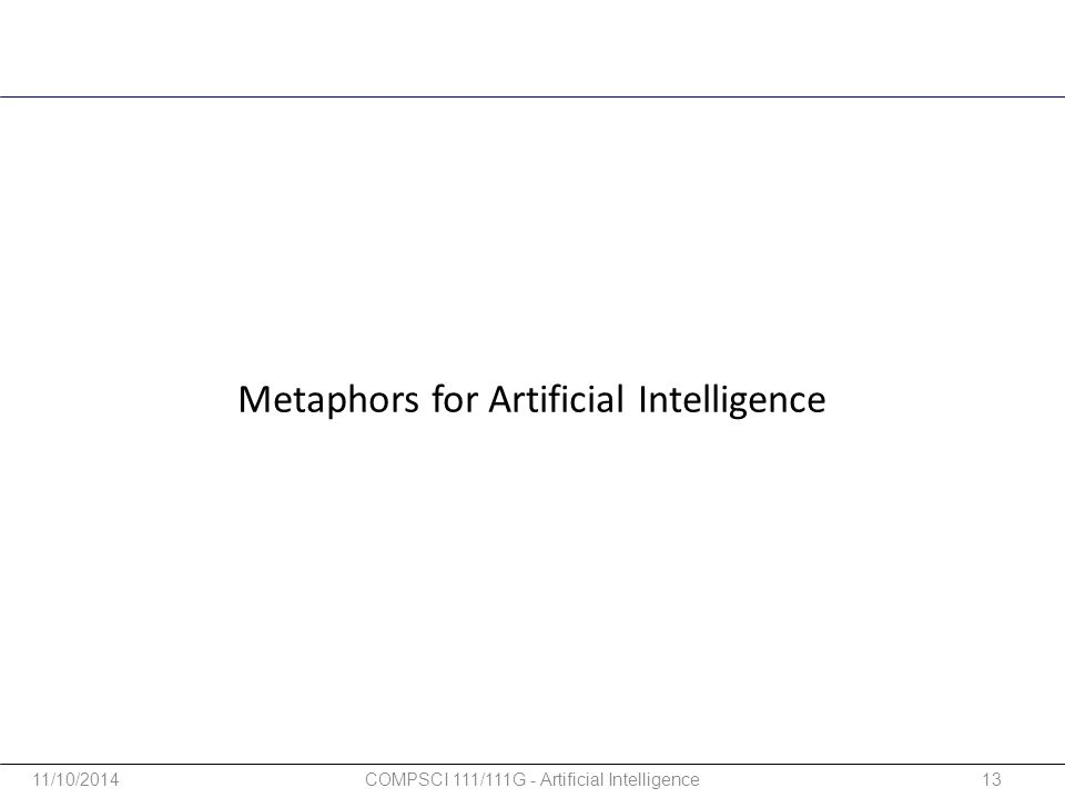 Metaphors for Artificial Intelligence