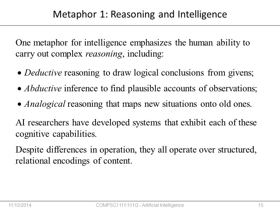 Metaphor 1: Reasoning and Intelligence