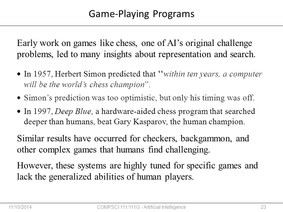 Game-Playing Programs