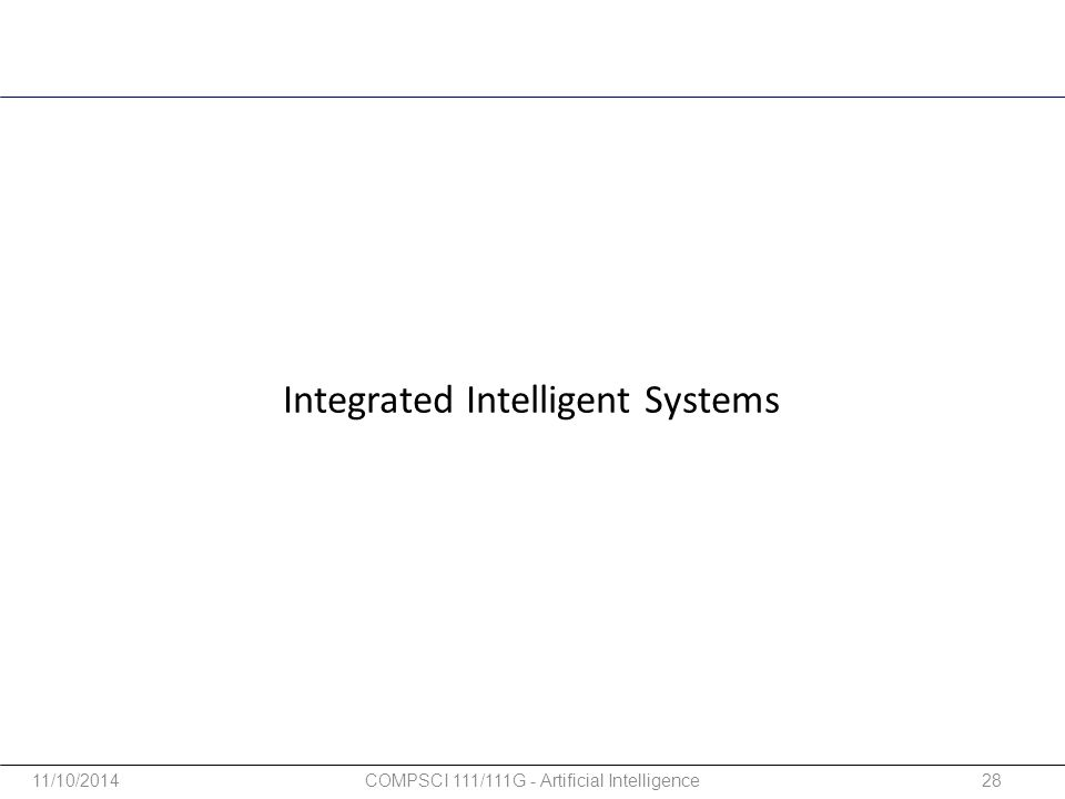 Integrated Intelligent Systems