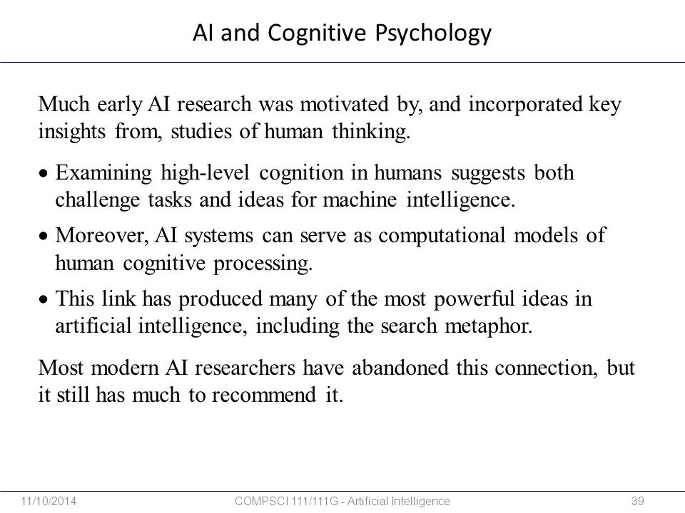 AI and Cognitive Psychology