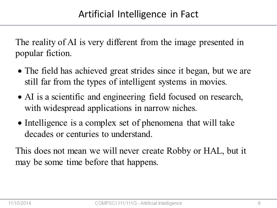 Artificial Intelligence in Fact
