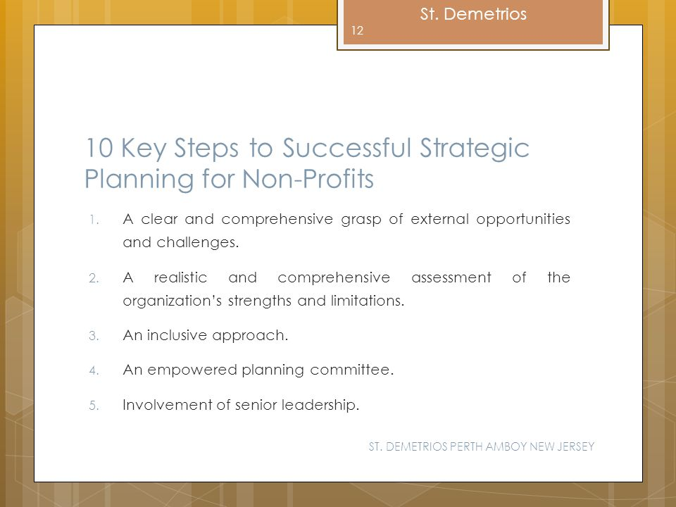 10 Key Steps to Successful Strategic Planning for Non-Profits