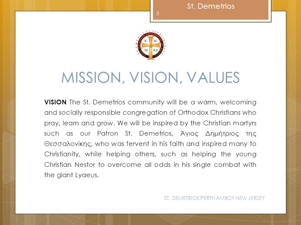 MISSION, VISION, VALUES