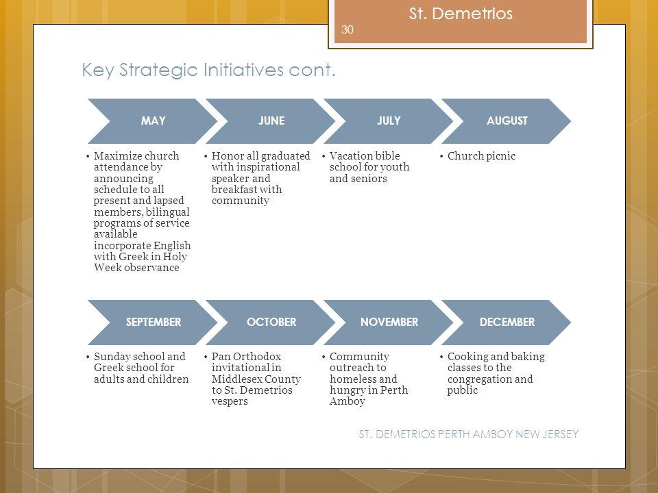 Key Strategic Initiatives cont.