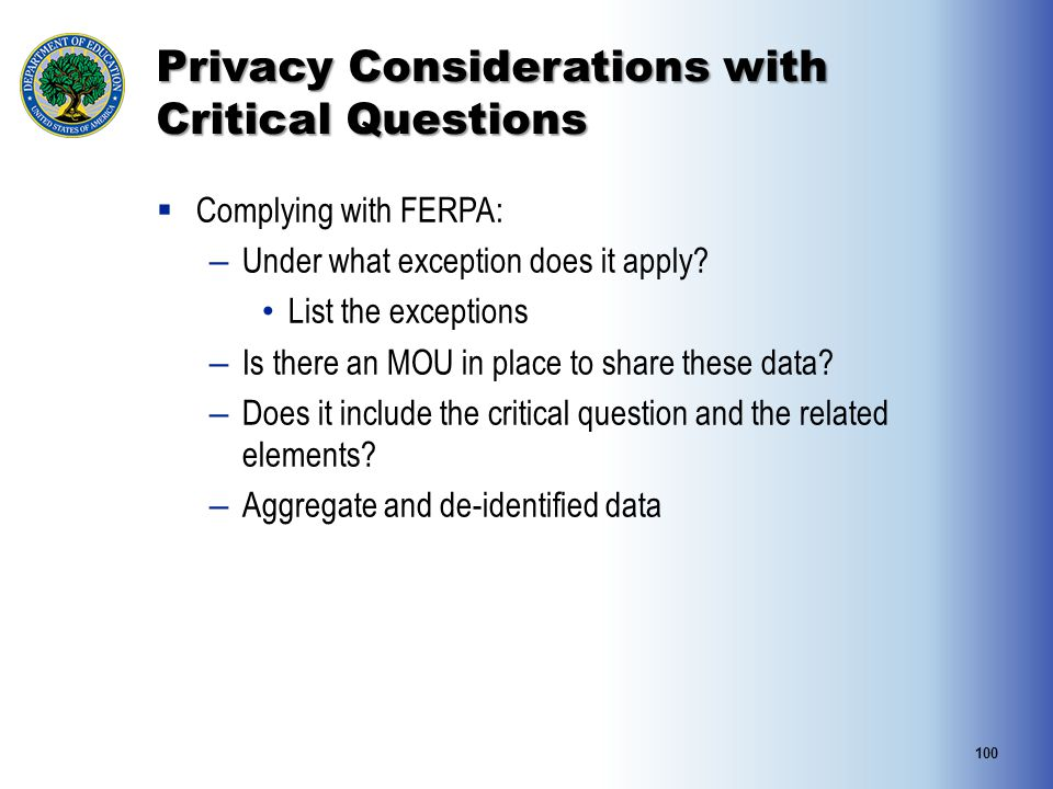 Privacy Considerations with Critical Questions