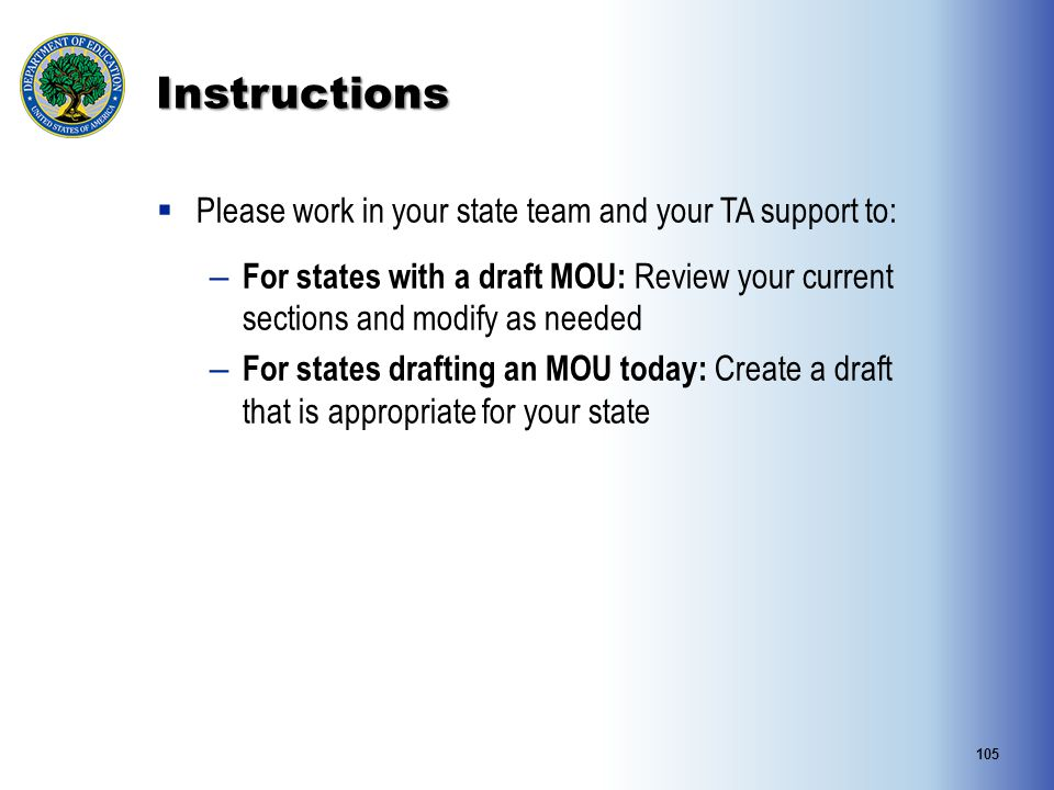 Instructions Please work in your state team and your TA support to:
