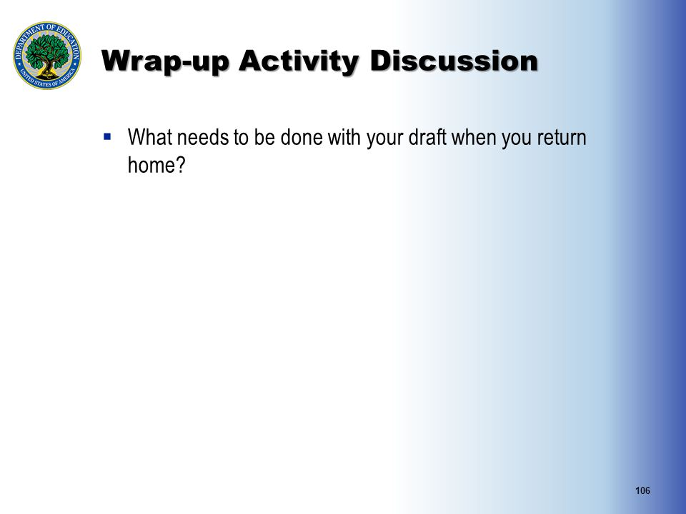 Wrap-up Activity Discussion