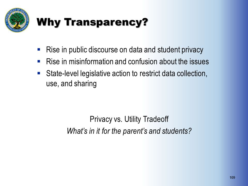 Why Transparency Rise in public discourse on data and student privacy