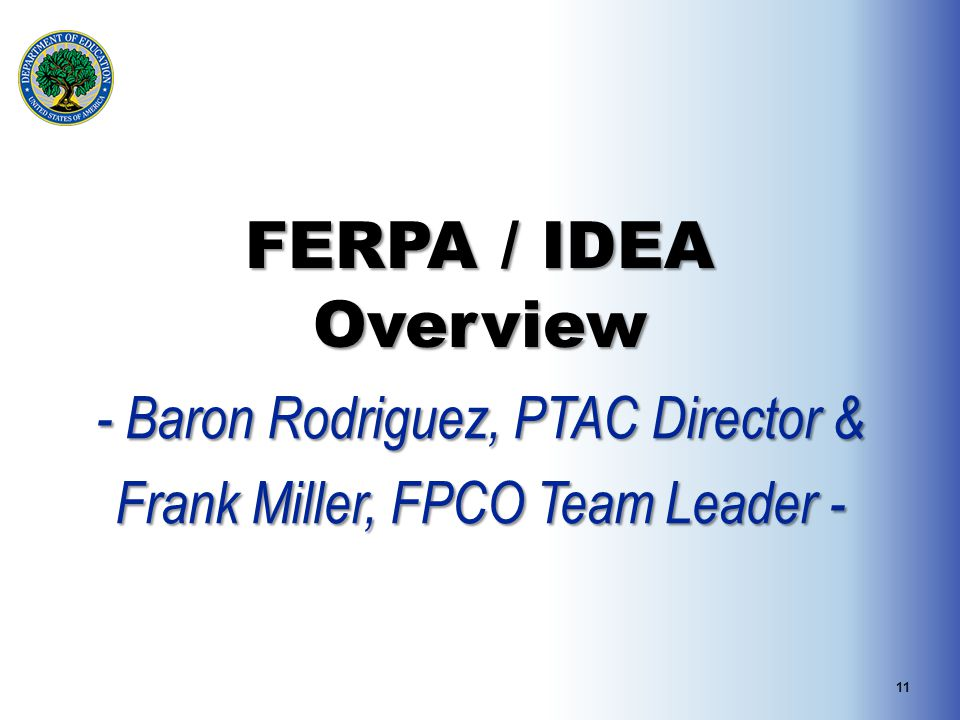 - Baron Rodriguez, PTAC Director & Frank Miller, FPCO Team Leader -
