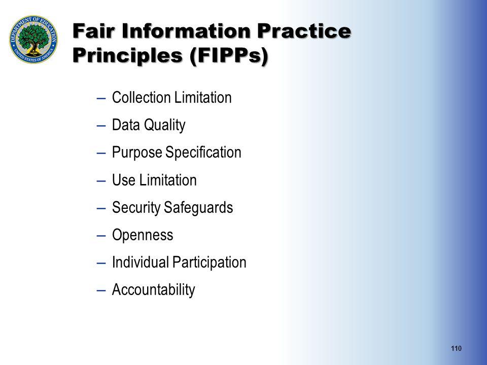 Fair Information Practice Principles (FIPPs)